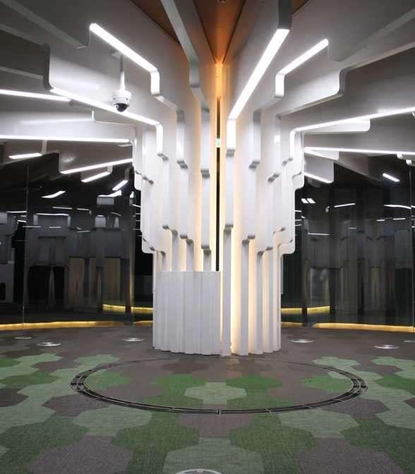 Bolon Studio™ floor tiles in the office of Daum Communication in Korea