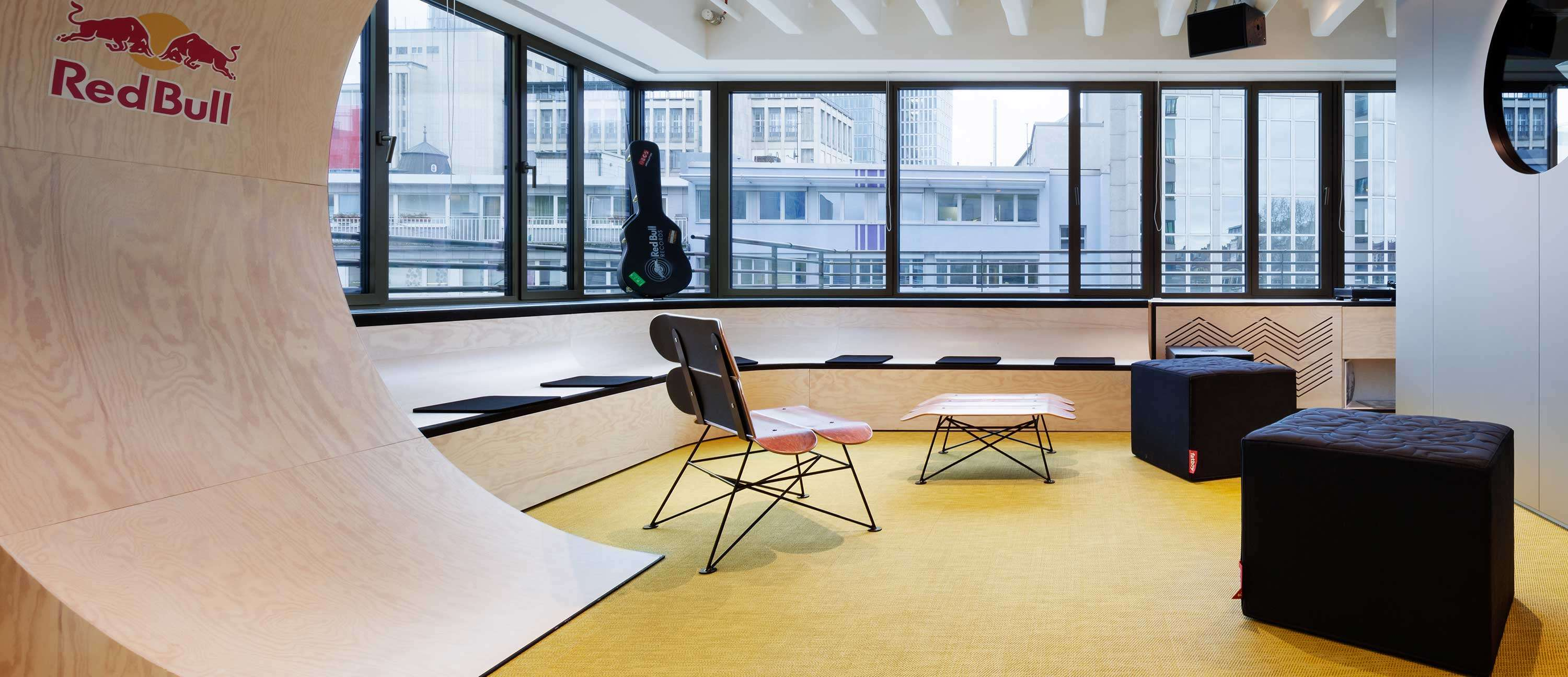 Bolon flooring in the office of Red Bull in Frankfurt, Germany