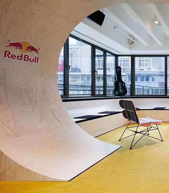 Bolon flooring in the office of Red Bull in Frankfurt, Germany