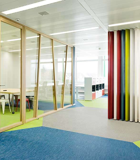 Bolon flooring in the office of Phonak in Stäfa, Switzerland