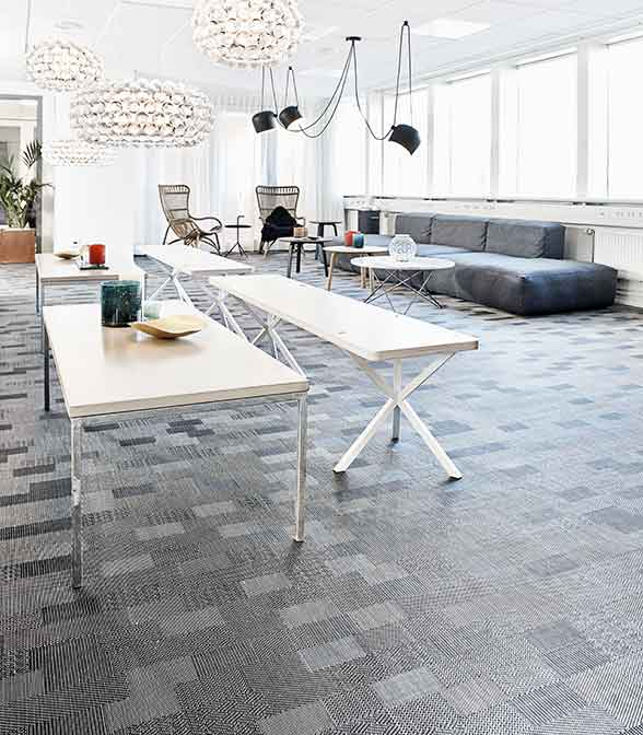 Bolon flooring in the office of Sector Alarm in Gothenburg, Sweden