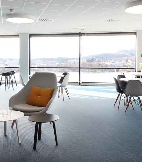 Bolon flooring in the office of JMT Nordic in Bergen, Norway