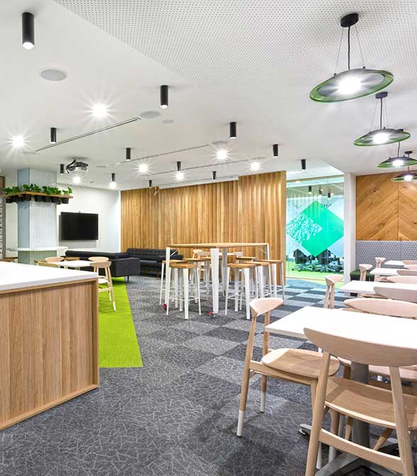 Bolon flooring in the office of Silverchef in Melbourne, Australia