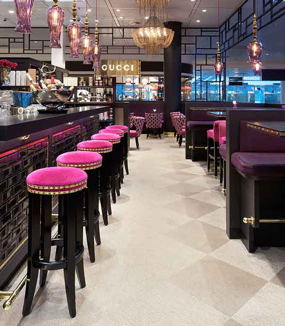 Bolon flooring in Selmans Restaurant and Bar at Munich Airport