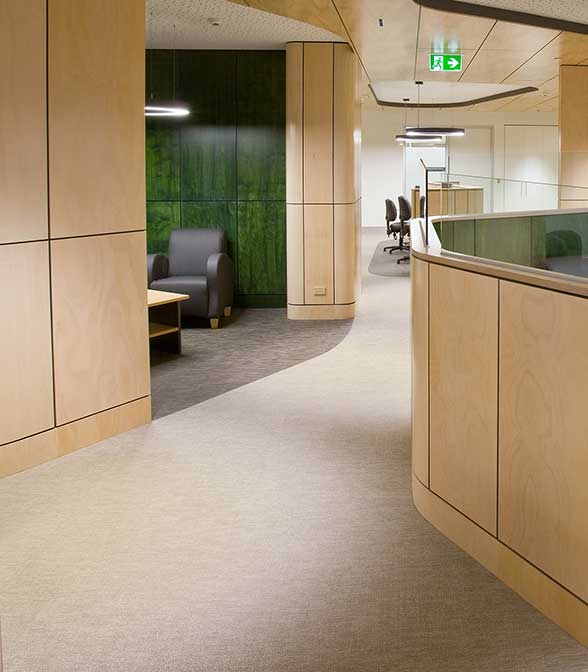 Bolon flooring in Geelong Hospital