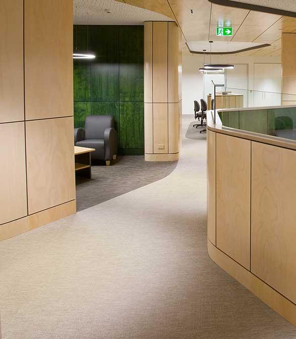 Bolon flooring in Geelong Hospital