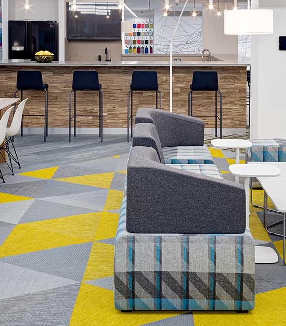 Bolon flooring in the office of Oktra in London, United Kingdom