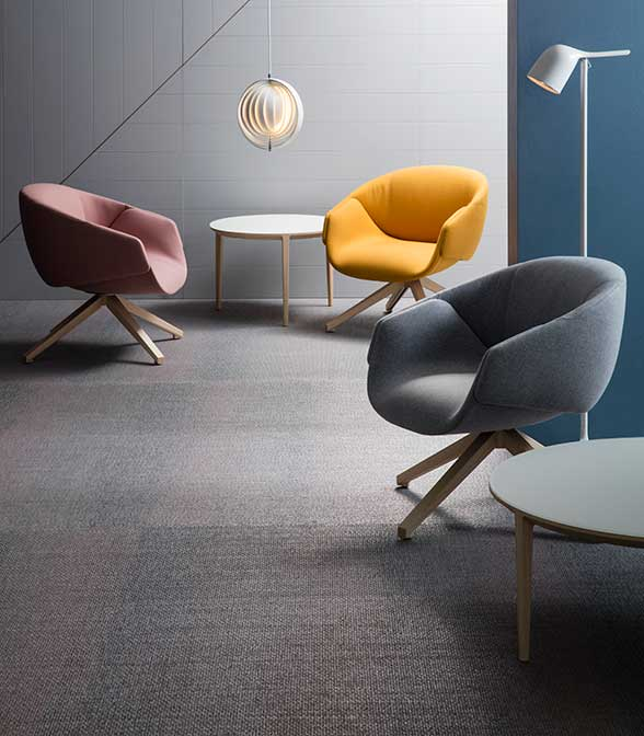 Bolon flooring in Space's Showrooms in Australia