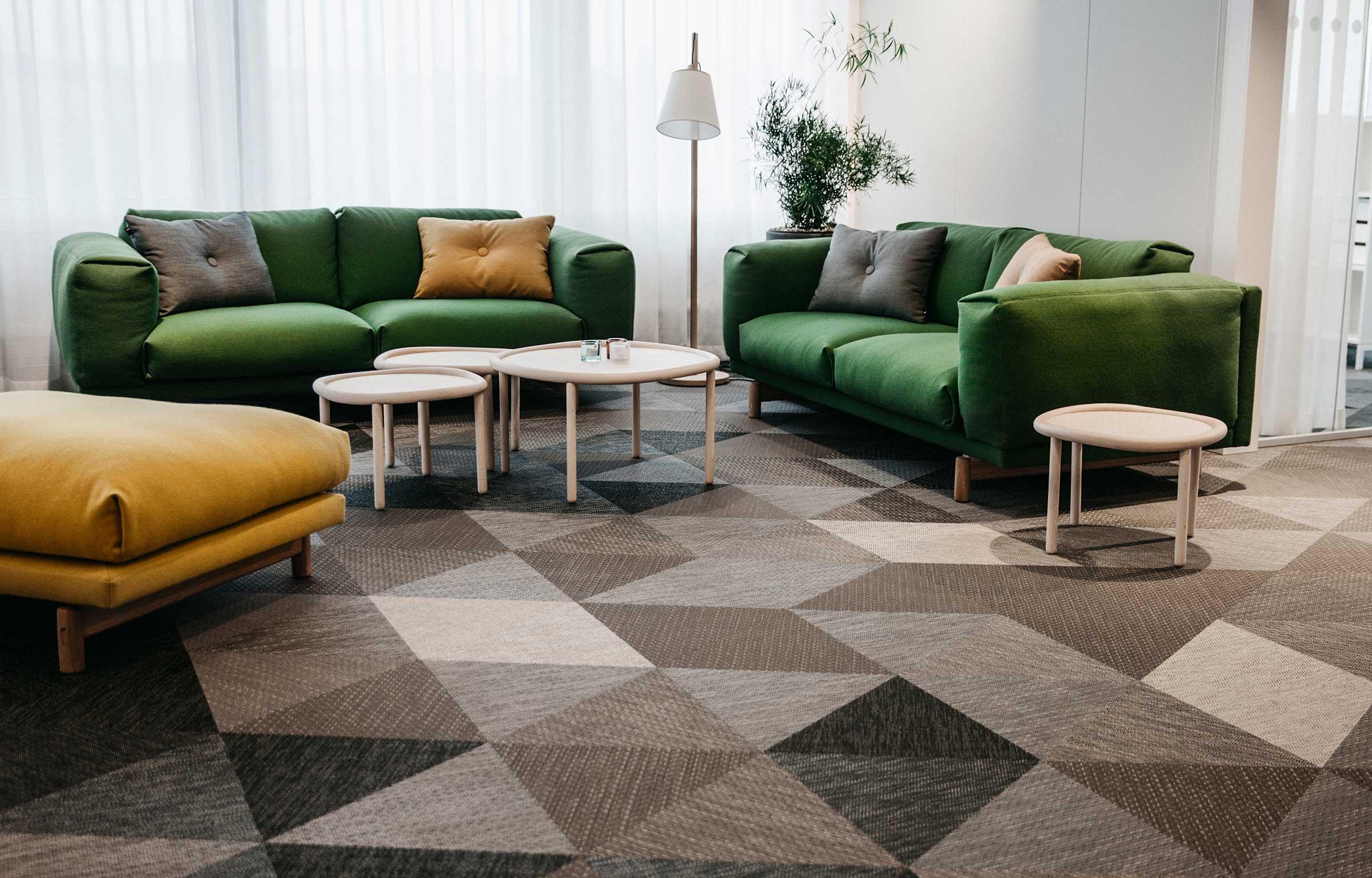 Bolon Studio Triangles in Glimstedt office in Park49, Gothenburg
