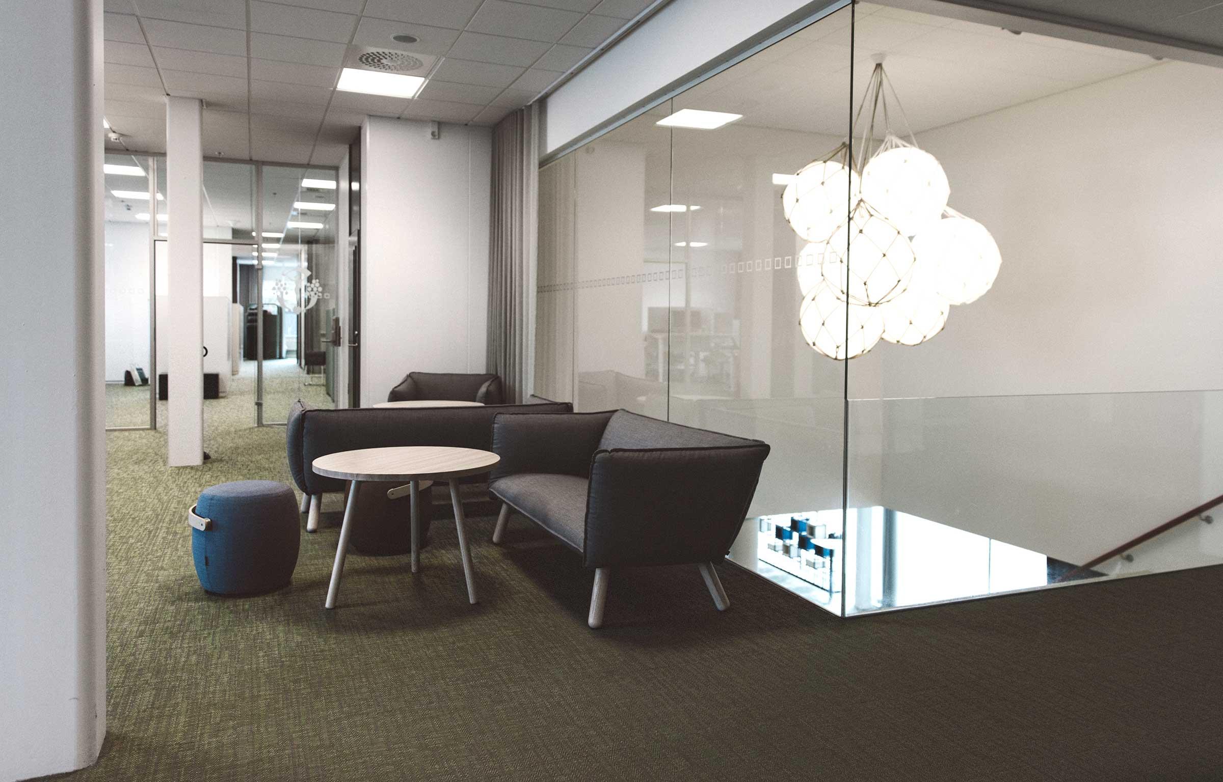 Västsvenska Handelskammaren uses Bolon flooring for its offices and open conference areas.
