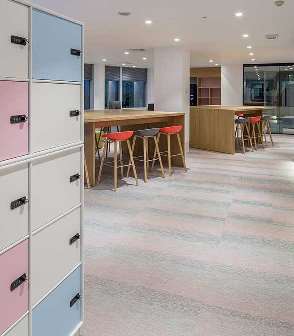 Bolon flooring in the office of McGraw Hill Education