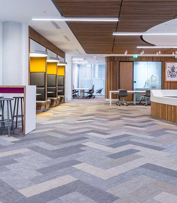 Bolon flooring in the office of CIMA in Lodon, UK