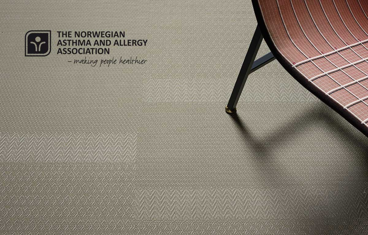 Bolon flooring receives certification from the Norwegian Asthma and Allergy Association (NAAF)